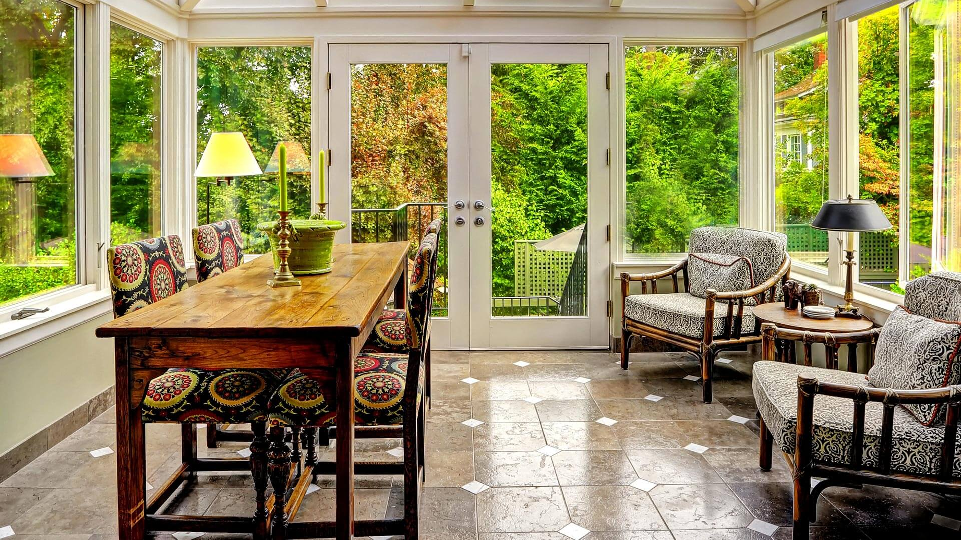 California Kitchen Room Addition Sunroom