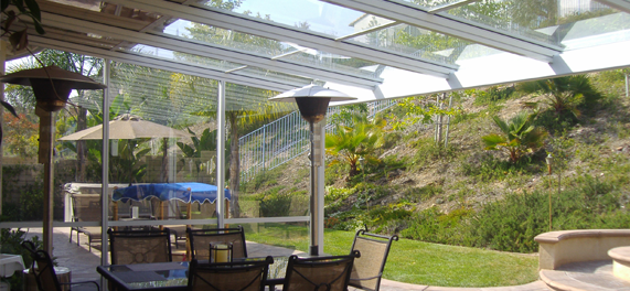 Glass Roof Patio Cover